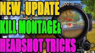 New Headshot Tricks and tips|| New update kill montage|| Run gaming