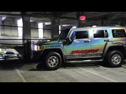Seaside Graphix  hummer 3m Gloss Flip Psychedelic wrap