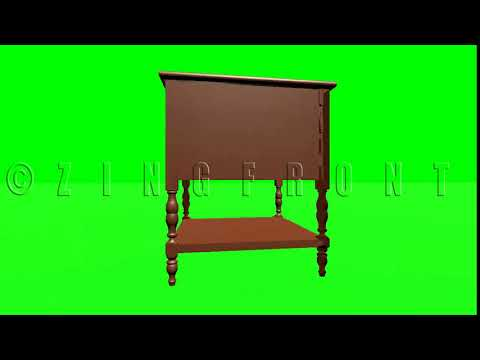 Green Screen Effects:American Antique Silverware Cabinet