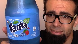 WTF: Fanta Blue Reaction Video *My First Blue Soda* | FreakEating