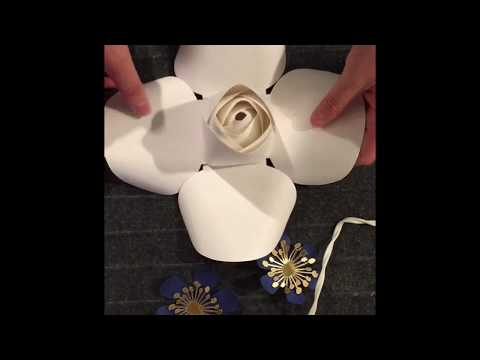 FREE Rose Bud tutorial. Rose center tutorial. How to make rose paper flower.