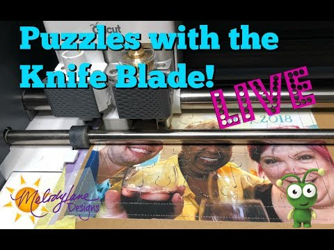 Puzzles with the Cricut Knife Blade and the Maker LIVE