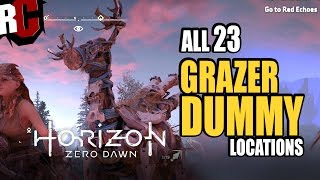 Horizon Zero Dawn - All Grazer Dummy Locations (Downed 23 Grazer dummies Trophy Guide)