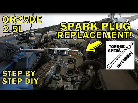2013-2018 Nissan Altima Spark Plug Replacement (2.5L QR25DE)