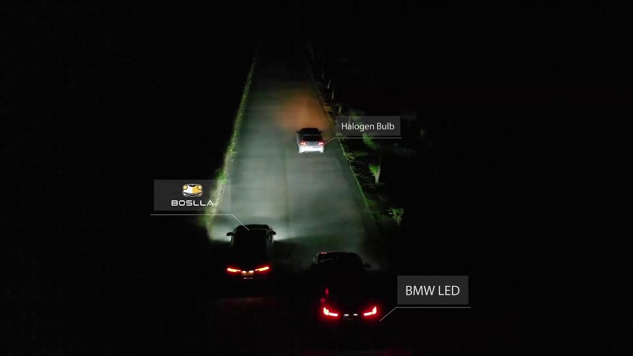 Boslla - The World's First Four-Color Car LED Headlight Bulb by