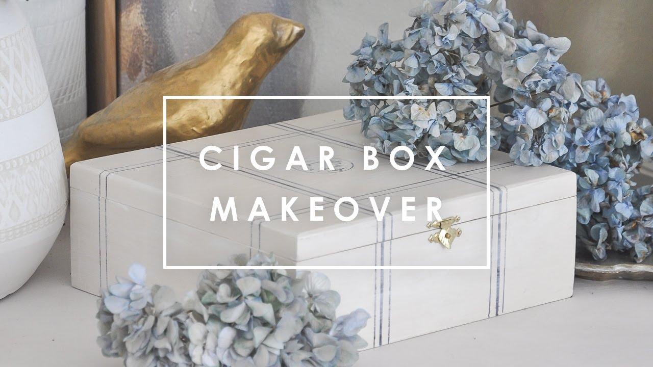 Repurposed Wooden Cigar Box Jewelry Box