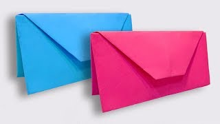How To Make an Easy Paper Purse   DIY Origami Handbag Making Tutorial for Women   Paper Wallet