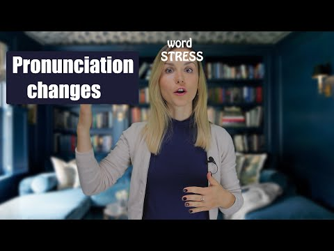 Pronunciation Changes in Words that are Both Nouns and Verbs