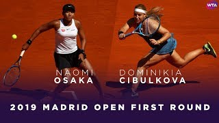 Naomi Osaka vs. Dominika Cibulkova | 2019 Madrid Open First Round | WTA Highlights