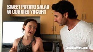 Roasted Sweet Potato W Curried Yogurt Dressing (#popuprecipe)