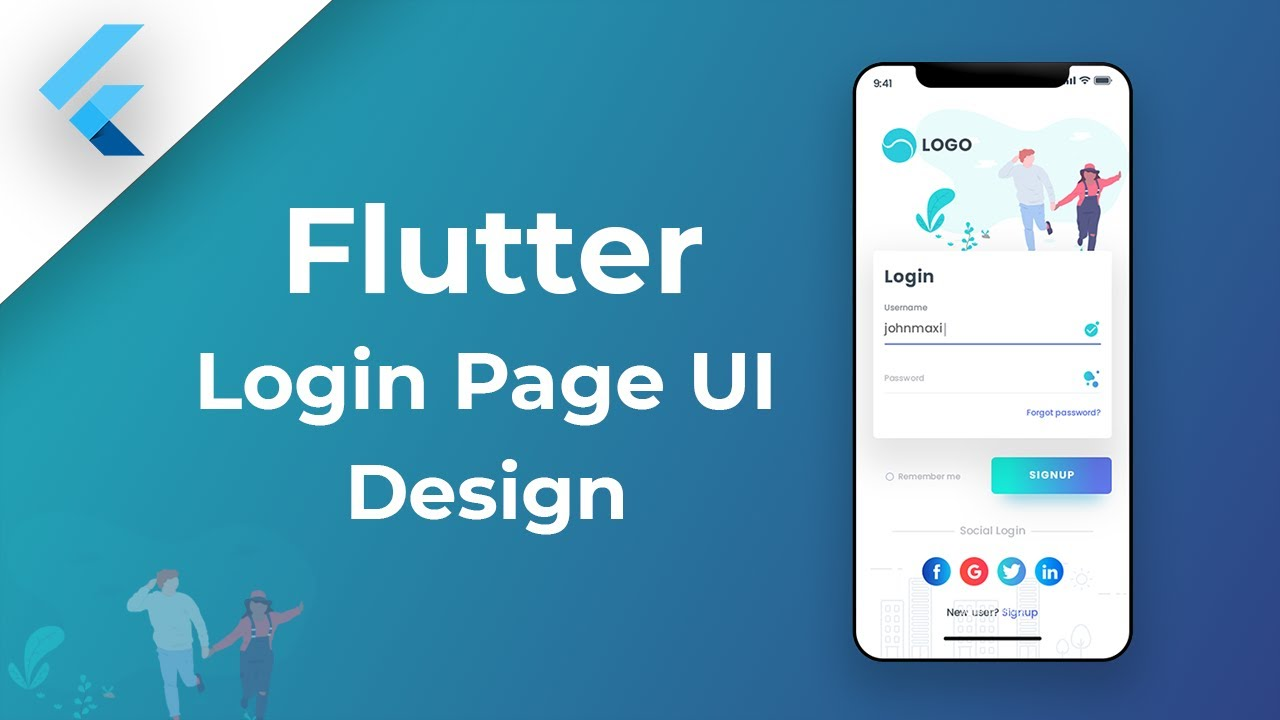 Flutter Login Page UI - Speed Code