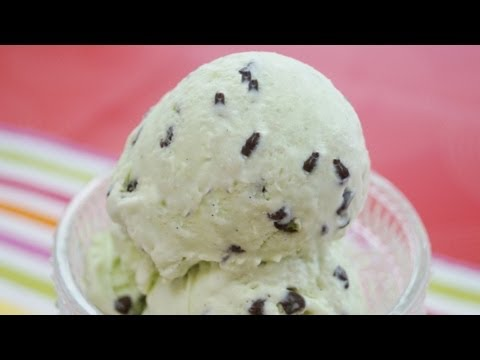 Mint Chocolate Chip Ice Cream: Recipe (How To Make) NO MACHINE! Easy! Dishin' With Di Recipe #98