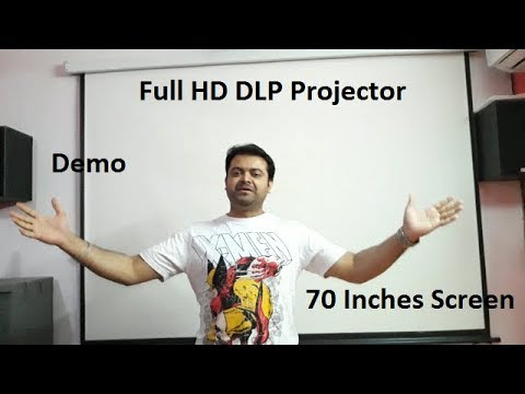 BenQ MS535p Full HD DLP Projector Demo & picture review