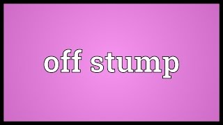 Off stump Meaning