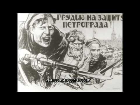 RUSSIAN CIVIL WAR & INTERVENTION OF ALLIED ARMIES  WHITE ARMY VS. RED ARMY  SOVIET FILM 55014