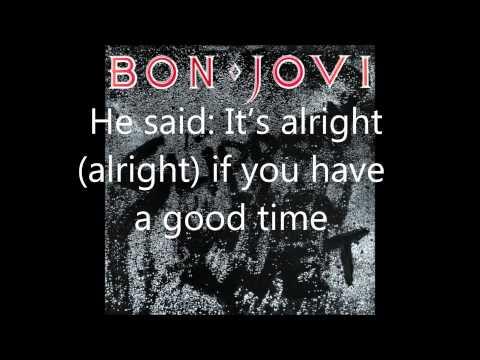 Bon Jovi - Let It Rock (lyrics)