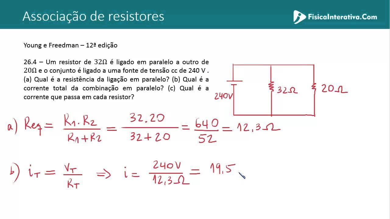 Circuito Rlc Serie Exercicios Resolvidos : Associação de resistores em paralelo exercício resolvido