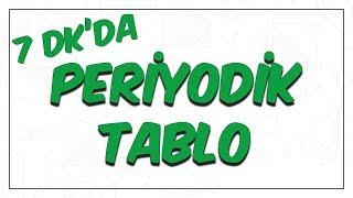 7dk'da PERİYODIK TABLO