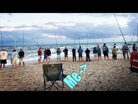 Crazy Crowded Surf Fishing In The Outer Banks!