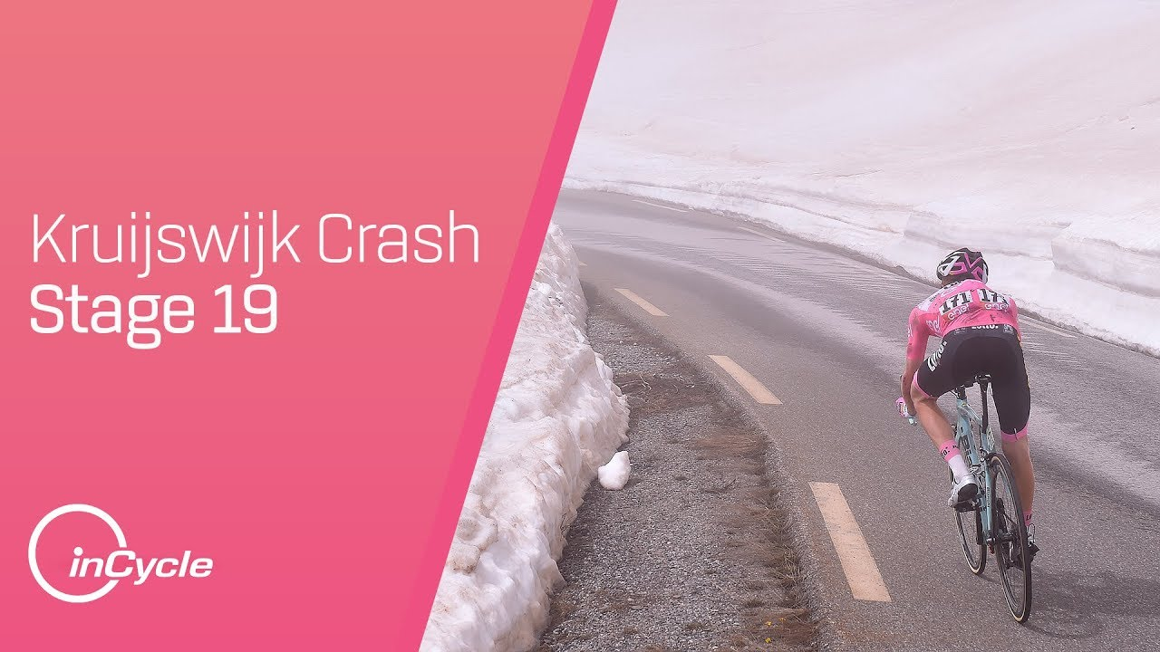 Kruijswijk Loses Time After Huge Crash | Giro d'Italia ...