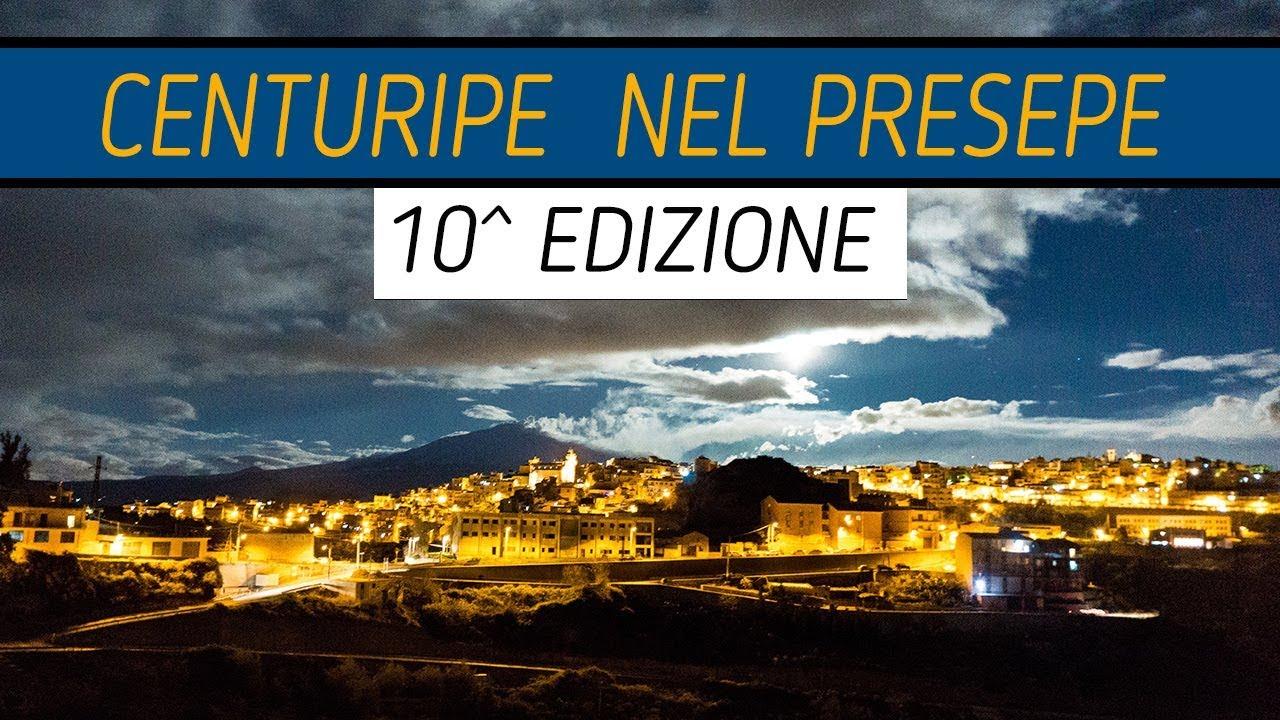 Locandina Centuripe nel Presepe 10 edizione con sfondo Etna