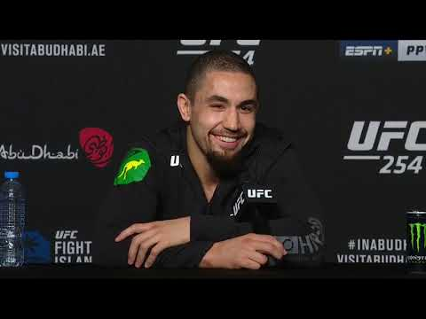 UFC 254: Robert Whittaker Post-fight Press Conference