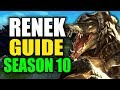 SEASON 10 RENEKTON GAMEPLAY GUIDE - (Best Renekton Build, Runes, Playstyle) - League of Legends