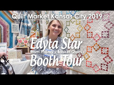 Edyta Sitar from Laundry Basket Quilts Booth - Quilt Market Kansas City 2019 | Fat Quarter Shop