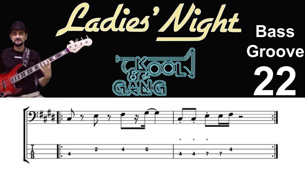 LADIES NIGHT (Kool & The Gang) How to Play Bass Groove