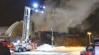 Église en feu Montréal - St Bernadin de Sienne