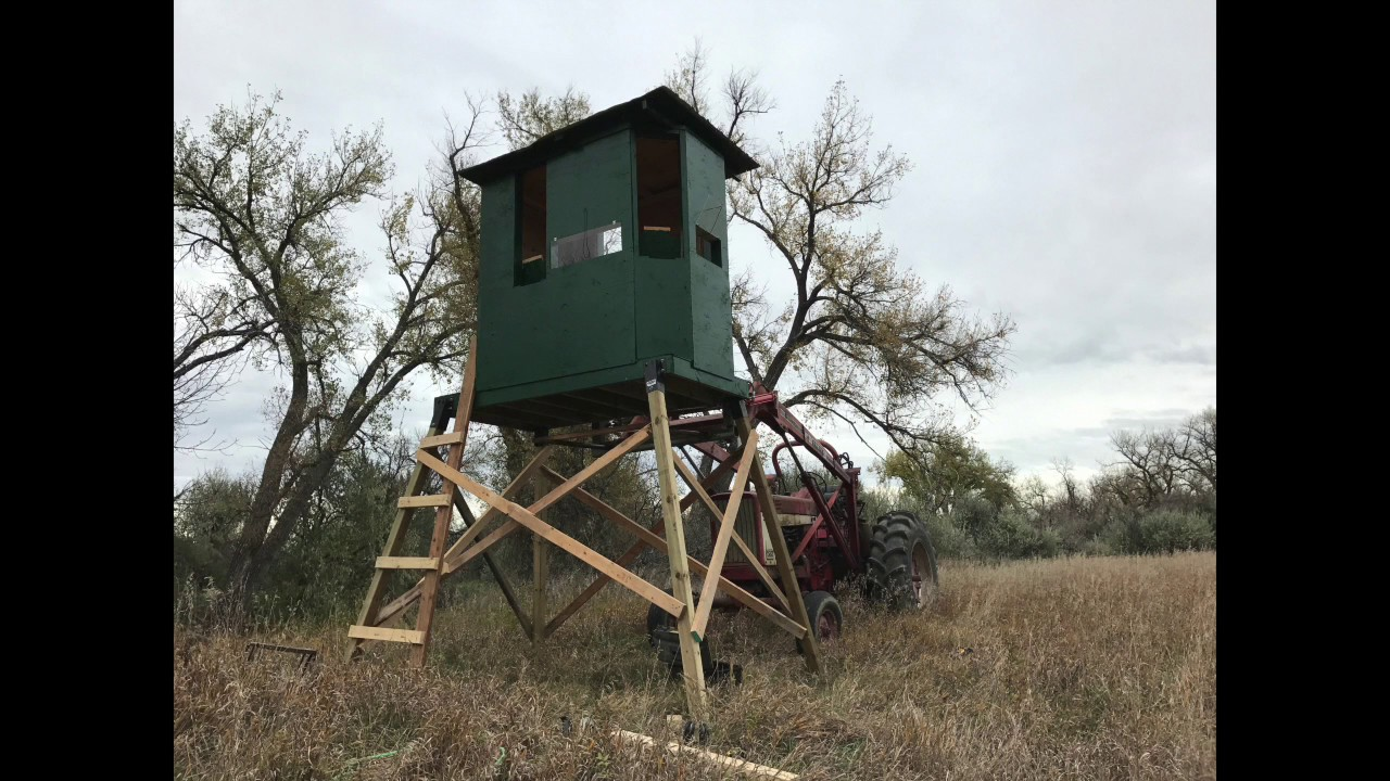 Diy Elevated Deer Blind Instructions Youtube