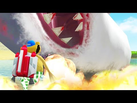 FLAMETHROWER vs GIANT SHARK - Amazing Frog - Part 100 | Pungence