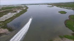 Port O'Connor Texas to Power Lake - Skinny Water - Drone - GoPro Video