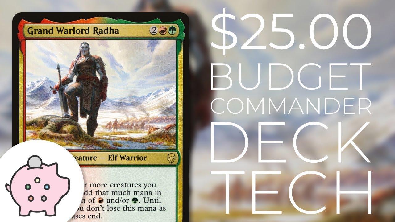 Grand Warlord Radha   EDH Budget Deck Tech $25   Aggro   Magic the  Gathering   Commander