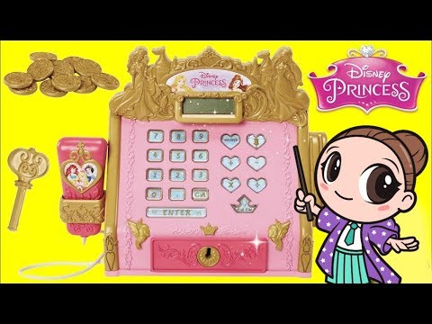 Disney Princess Royal Boutique Electronic Cash Register with Pretend Money Playset