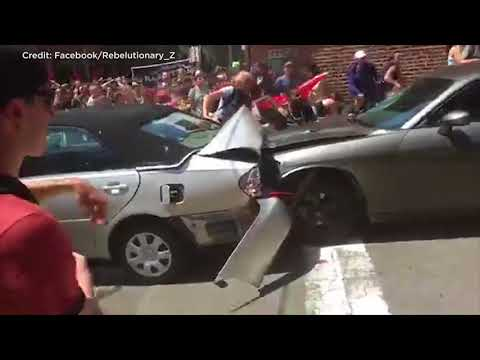 Video shows car ramming into protesters
