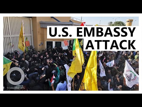 Protesters Storm U.S. Embassy In Baghdad - TomoNews