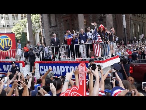 US Women's Soccer Team NYC Ticker-Tape Parade - FPV LIVE: