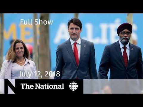 The National for Thursday, July 12, 2018 — Toronto Security, Ontario Sex Ed, Erik Brown