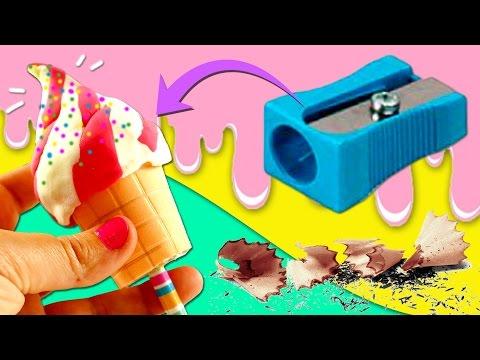 Ice cream PENCIL SHARPENER * DIY School Supplies BACK TO SCHOOL