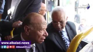 بدء احتفالية تسليم 90 أتوبيسا ضمن العقد المبرم بين القاهرة وغبور.. فيديو وصور