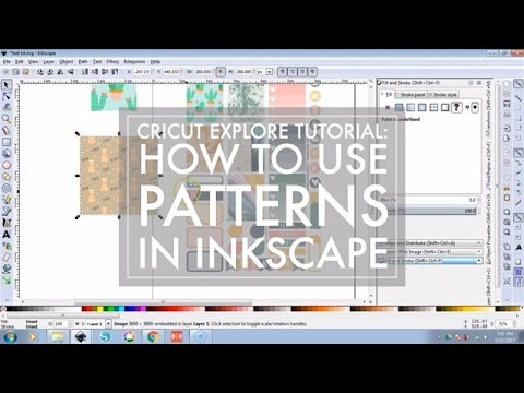 How To Use Patterns In Inkscape  Diy Stickers Cricut Explore Tutorial  Youtube