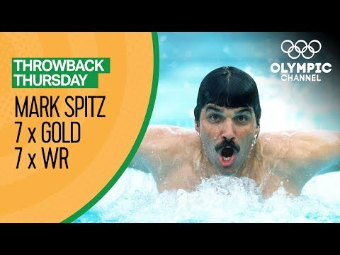 Mark Spitz Wins Seven Gold Medals with Seven World Records | Throwback Thursday