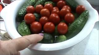 Ассорти из помидоров и огурцов/ Попробуйте-не пожалеете!