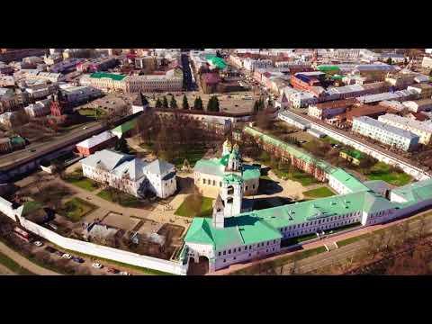Ярославль, Ростов Великий, Переславль-Залесский в 4К с высоты птичьего полета