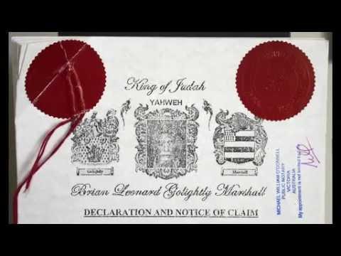 Brian Leonard Golightly Marshall Proclamation to Queen Elizabeth II