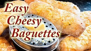 Easy Cheesy Baguettes made easy at home simple step by step instructions