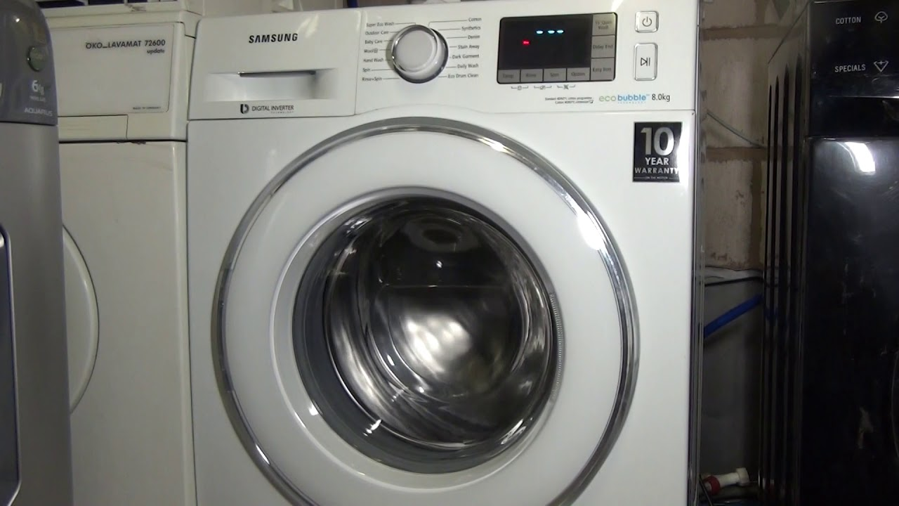 How to: run calibration test on a samsung Ecobubble washing machine