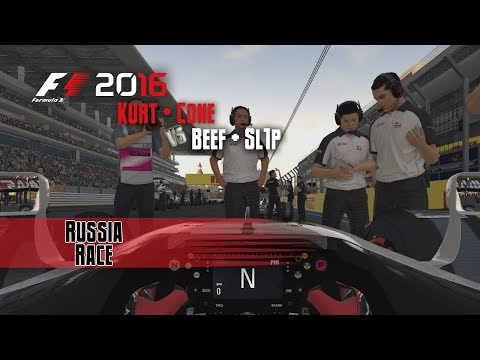F1 2016 Multiplayer | Beef/Sl1P vs Kurt/Cone | Russia Race
