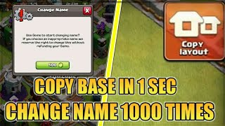 COPY ANYONE BASE IN 1 SECOND | NEW UPDATE 2018 | 3 rd NAME CHANGE, CLAN CASTLE SLEEP/GUARD MODE